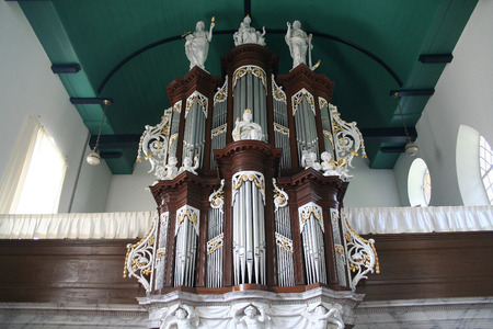 Netherlands, Hallum,-june 2016: Reformed Church St. Martinus