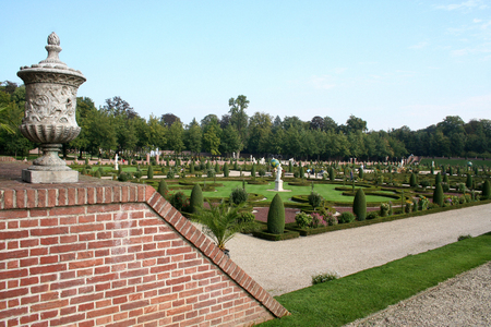 Netherlands, The Loo,-june 2016: Garden of the former royal palace