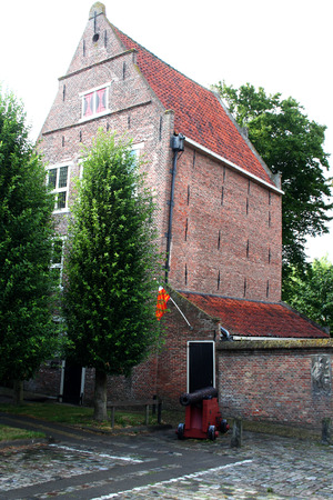 Netherlands, Enkhuizen june 2016: Former jailhouse in the town with a rich historic past