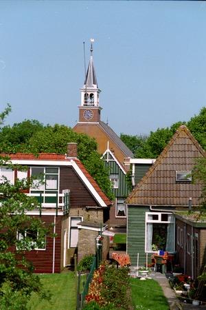 Netherlands, Hindloopen,-june 2016: typiical view of Hindeloopen