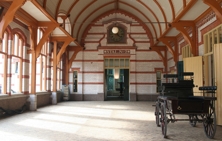 Netherlands, The Loo,-june 2016: interior of the stables