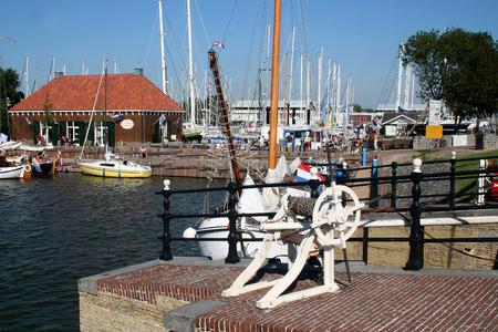 Netherlands, Hindloopen,-june 2016: Marina,harbor