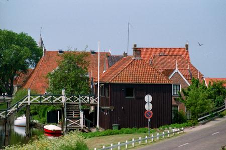 Netherlands, Hindloopen,-june 2016: typical black shed