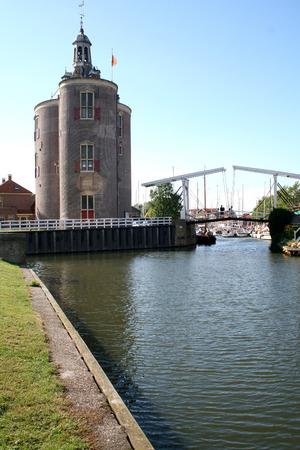 Netherlands, Enkhuizen june 2016: the Drommedaris is an old city tower