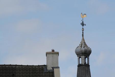 Netherlands, Gorinchem, Gorkum, June 2016:  part of The great tower Protestant Reformation church