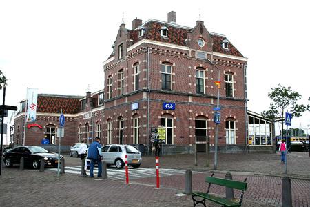 Netherlands, Enkhuizen june 2016: Old railwaistation