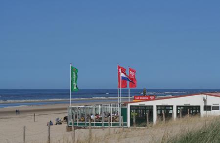 Egmond aan zee, North, Holland, Netherlands june 2016: The Northsea beach of  Egmond aan Zee