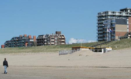 The beach of Egmond aan Zee in summertime Stock Photo