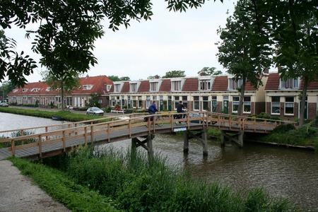 elves: Friesland,Franeker,july 2016: Canal in the town of Franeker Editorial