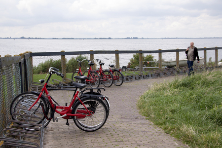 Netherlands,North Holland,Marken, june2016: Marken is a suitable place for cycling