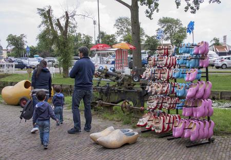 Netherlands,North Holland,Marken, june2016: The souvenir shop in Marken does fine business