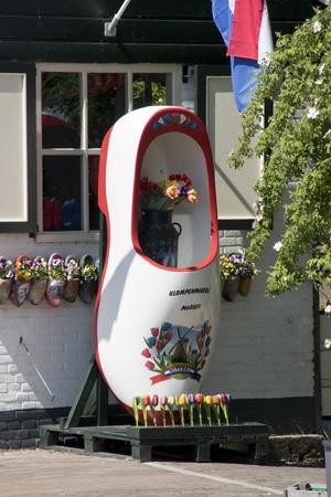 Netherlands,North Holland,Marken, june2016: giant clog for souvenir shop 報道画像