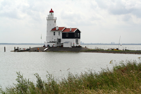 Netherlands,North Holland,Marken, june2016: Lighthouse The Horse of Marken