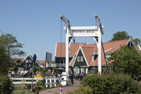 Netherlands,North Holland,Marken, june2016: Beatrix bridge in Marken