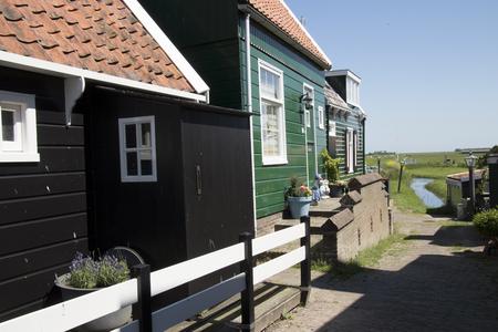 Netherlands,North Holland,Marken: wooden historical houses