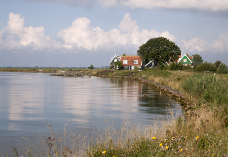 Netherlands,North Holland,Marken, june2016:  Coastal road arround Marken