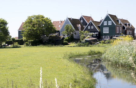 Netherlands,North Holland,Marken, june2016: meadows and rural land in the island of Marken Stock Photo