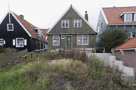 Netherlands,North Holland,Marken, june2016: poorly maintained House 報道画像