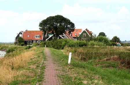 Netherlands,North Holland,Marken, june2016: meadows and rural land in the island of Marken 写真素材