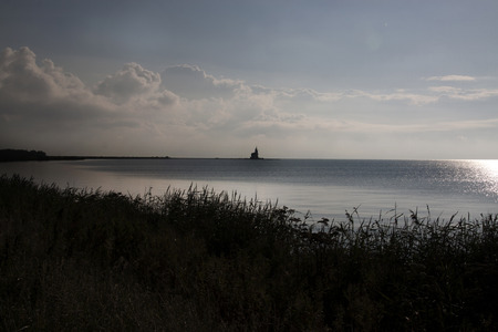Netherlands,North Holland,Marken, june2016: Silhouette of the van Marken
