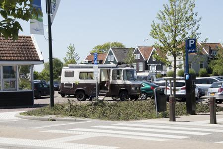 Netherlands,North Holland,Marken, june2016:Parking at the entrance of the village