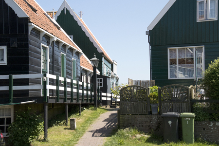 Netherlands,North Holland,Marken, june2016: wooden historical houses