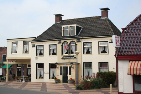 Netherlands,Friesland,Marrum, june2016: the hotel of Marrum