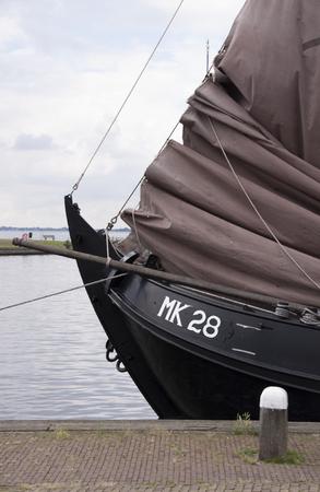 Netherlands,North Holland,Marken, june2016:  The port area is the busiest part of Marken.