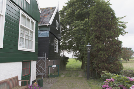 Netherlands,North Holland,Marken, june2016: Edge of the port area, the busiest area of Marken 報道画像