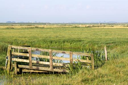 Netherlands,North Holland,Marken: Rustic fence in Marken 写真素材