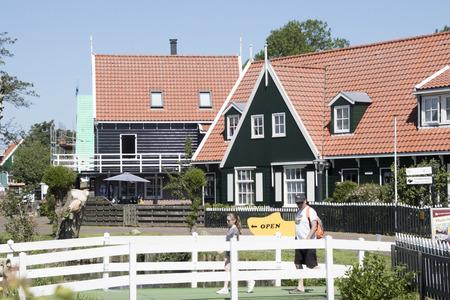 Netherlands,North Holland,Marken, june2016: wooden historical houses