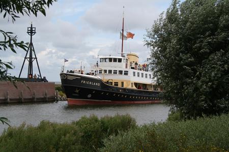 Netherlands,North Holland,Medemblik, june2016:  A ferry sails from the town of Enkhuizen to Medemblik v.v. 報道画像