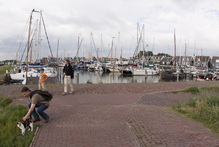 Netherlands,North Holland,Marken, june2016: the port area is the busiest part of Marken.
