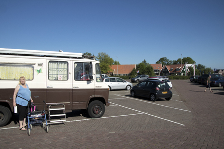 Netherlands,North Holland,Marken, june2016: Parking in Marken