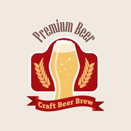 brew: Beer vector illustration brew flat pub Illustration