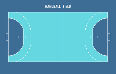 Handball field. Top view eps 10 vector illustration Иллюстрация
