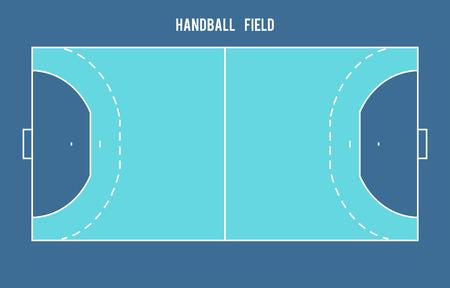 terrain de handball: terrain de handball. Vue de dessus eps 10 illustration vectorielle Illustration