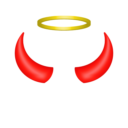 Angels Halo And Devils Horns Royalty Free Cliparts Vectors And