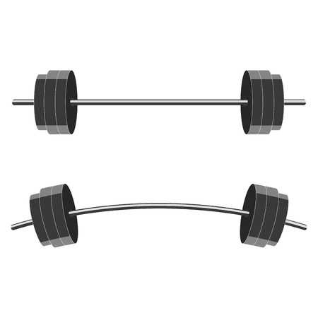 Barbells isolated on white background. Vector illustration Reklamní fotografie