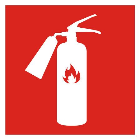 suppression: Fire extinguisher icon isolated on background. Vector illustration. Illustration