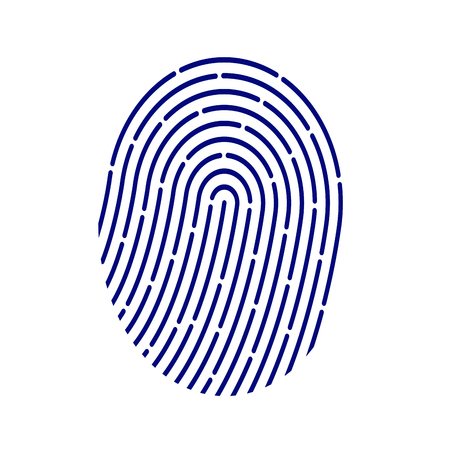 ID application icon. Fingerprint vector illustration isolated on white background. Illustration