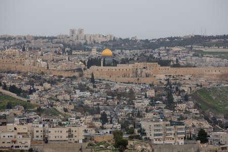 View on the old city of Jerusalem