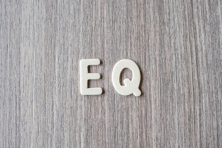 EQ word of wooden alphabet letters. Business and Idea concept 版權商用圖片