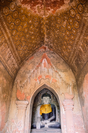 Beautiful ancient temples and pagoda in the Archaeological Zone, landmark and popular for tourist attractions and destination in Bagan, Myanmar. Asia Travel concept