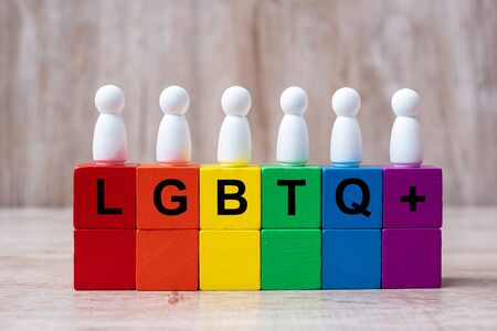LGBTQ Rainbow color blocks, for Lesbian, Gay, Bisexual, Transgender and Queer community
