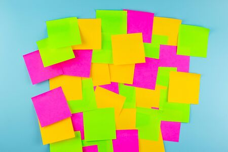 Empty paper note on blue background with copy space for text. FAQ( frequently asked questions), Answer, Q&A, Communication and Brainstorming, International Ask a Question day Concepts