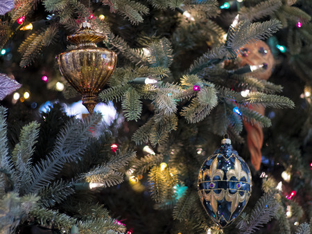 Christmas Tree and Elegant Ornaments
