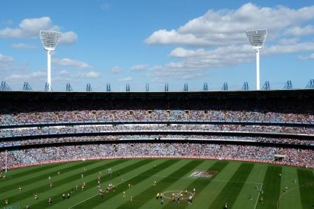 stadium crowd: Crowd in stadium MCG Melbourne
