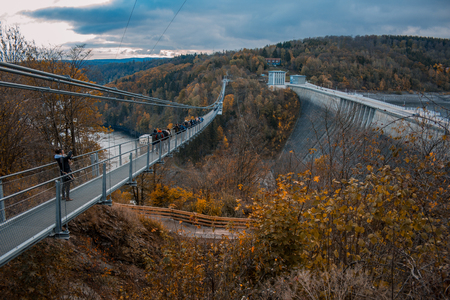 Titan RT suspension bridge in Harz Mountains National Park, Germany Stock fotó