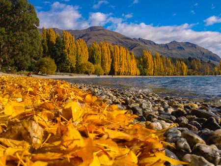 scenic view at Lake Wanaka in Wanaka town, New Zealand